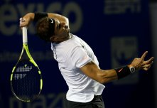 Tennis - Mexican Open - Men's Singles - Semi-Final - Acapulco, Mexico- 03/03/17. Spain's Rafael Nadal in action against Croatia's Marin Cilic. REUTERS/Henry Romero
