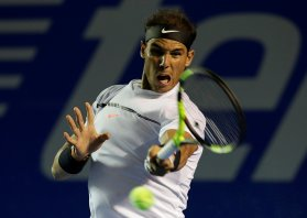 Tennis - Mexican Open - Men's Singles - Semi-Final - Acapulco, Mexico- 03/03/17. Spain's Rafael Nadal in action against Croatia's Marin Cilic. REUTERS/Henry Romero