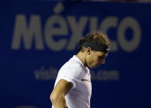 Tennis - Mexican Open - Men's Singles - Final - Acapulco, Mexico- 04/03/17. Spain's Rafael Nadal in action against USA's Sam Querrey. REUTERS/Henry Romero