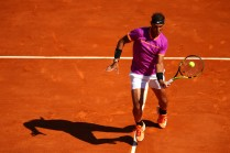 Rafael Nadal of Spain in action during his third round match against Alexander Zverev of Germany on day 5 of the Monte Carlo Rolex Masters Series at Monte-Carlo Sporting Club on April 20, 2017 in Monte-Carlo, Monaco. (April 19, 2017 - Source: Clive Brunskill/Getty Images Europe)