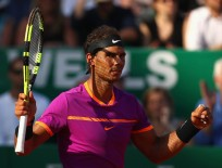 Rafael Nadal of Spain celebrates match point against David Goffin of Belgium in their semi final round match on day seven of the Monte Carlo Rolex Masters at Monte-Carlo Sporting Club on April 22, 2017 in Monte-Carlo, Monaco. (April 21, 2017 - Source: Clive Brunskill/Getty Images Europe)