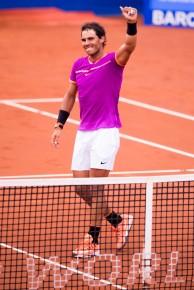 Rafael Nadal celebrates Barcelona Open final 2017