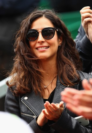 Xisca Perello girlfriend of Rafael Nadal of Spain watches as he receives his winners trophy after his straight set victory against Albert Ramos-Vinolas of Spain in the final on day eight of the Monte Carlo Rolex Masters at Monte-Carlo Sporting Club on April 23, 2017 in Monte-Carlo, Monaco. (April 22, 2017 - Source: Clive Brunskill/Getty Images Europe)