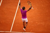 Rafael Nadal of Spain celebrates match point after his straight set victory against Albert Ramos-Vinolas of Spain in the final on day eight of the Monte Carlo Rolex Masters at Monte-Carlo Sporting Club on April 23, 2017 in Monte-Carlo, Monaco. (April 22, 2017 - Source: Clive Brunskill/Getty Images Europe)