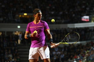 Rafael Nadal of Spain during the men's third round match against Jack Sock of USA on Day Five of the Internazionali BNL d'Italia 2017 at the Foro Italico on May 18, 2017 in Rome, Italy. (May 17, 2017 - Source: Michael Steele/Getty Images Europe)
