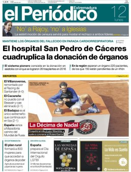 Newspaper front pages cover Rafael Nadal victory at Roland Garros 2017 (2)