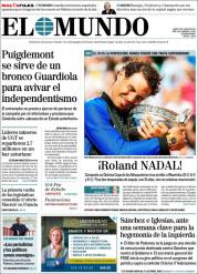 Newspaper front pages cover Rafael Nadal victory at Roland Garros 2017 front page (6)