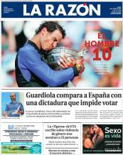 Newspaper front pages cover Rafael Nadal victory at Roland Garros 2017 front page (7)