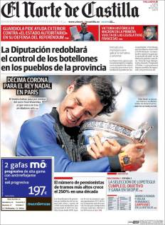 Newspaper front pages cover Rafael Nadal victory at Roland Garros 2017 front page (9)