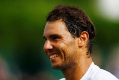 Tennis - Aspall Tennis Classic - London, Britain - June 30, 2017 Spain's Rafael Nadal reacts after his match against Germany's Tommy Haas Action Images via Reuters/Peter Cziborra