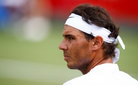 Tennis - Aspall Tennis Classic - London, Britain - June 30, 2017 Spain's Rafael Nadal during his match against Germany's Tommy Haas Action Images via Reuters/Peter Cziborra