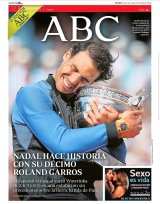 Rafael Nadal on the cover of ABC
