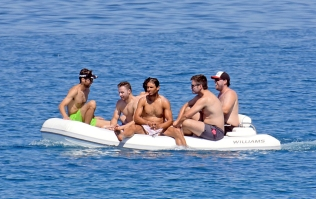 Rafael Nadal short holiday on yacht in Spain (12)