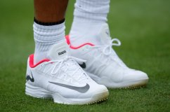 Tennis - Aspall Tennis Classic, London, Britain - June 28, 2017 General view of the trainers of Spain's Rafael Nadal during his match against Czech Republic's Tomas Berdych Action Images via Reuters/Andrew Couldridge