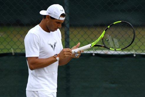 Tennis - Wimbledon - London, Britain - July 9, 2017 Spain's Rafael Nadal during a practice session REUTERS/Tony O'Brien