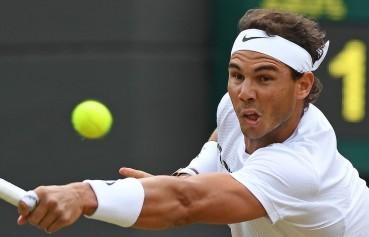 Rafael Nadal vs Gilles Muller 2017 Wimbledon fourth round photo (1)