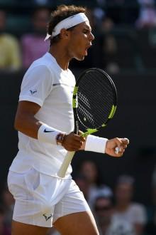 Rafael Nadal vs Gilles Muller 2017 Wimbledon fourth round photo (19)