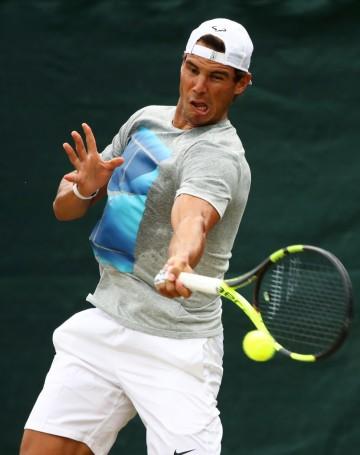 Wimbledon 2017 Rafael Nadal Tuesday practice photo (2)