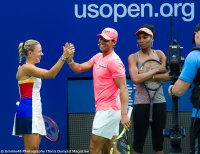 Angelique Kerber and Rafael Nadal at Kids Day 2017 US Open