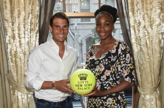 Professional tennis players, Rafael Nadal and Venus Williams attend the 2017 Lotte New York Palace Invitational at Lotte New York Palace on August 24, 2017 in New York City. (Aug. 23, 2017 - Source: Jamie McCarthy/Getty Images North America)