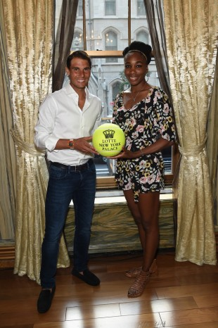 ¿Cuánto mide Venus Williams? - Real height Rafael-nadal-and-venus-williams-attend-the-taste-of-tennis-event-in-new-york-2017-us-open-2