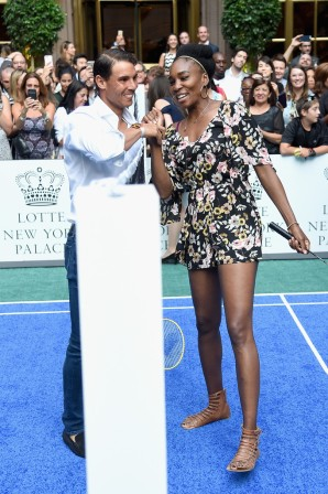 ¿Cuánto mide Venus Williams? - Real height Rafael-nadal-and-venus-williams-attend-the-taste-of-tennis-event-in-new-york-2017-us-open-3