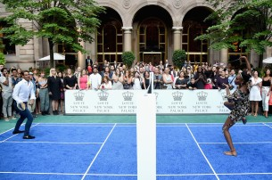 Professional tennis players, Rafael Nadal and Venus Williams compete during the 2017 Lotte New York Palace Invitational at Lotte New York Palace on August 24, 2017 in New York City. (Aug. 23, 2017 - Source: Jamie McCarthy/Getty Images North America)