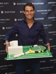 Rafael Nadal co-hosts exclusive cocktail event with Cosentino at Cosentino City Manhattan on August 22, 2017 in New York City. (Aug. 21, 2017 - Source: Dimitrios Kambouris/Getty Images North America)