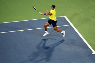 Rafael Nadal of Spain returns a shot against Richard Gasquet of France during Day 5 of the Western & Southern Open at the Linder Family Tennis Center on August 16, 2017 in Mason, Ohio. (Aug. 15, 2017 - Source: Rob Carr/Getty Images North America)