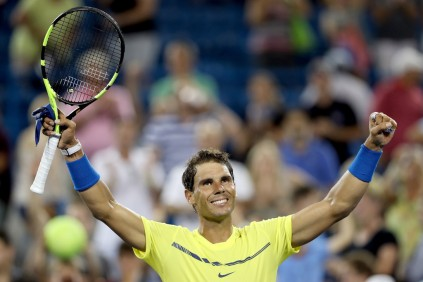 Rafael Nadal of Spain celebrates his win over Richard Gasquet of France during day 5 of the Western & Southern Open at the Lindner Family Tennis Center on August 16, 2017 in Mason, Ohio. (Aug. 15, 2017 - Source: Matthew Stockman/Getty Images North America)
