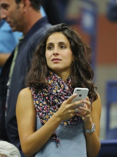 Rafael Nadal's girlfriend Xisca Perello watches him play against Dusan Lajovic of Serbia & Montenegro on Day Two of the 2017 US Open at the USTA Billie Jean King National Tennis Center on August 29, 2017 in the Flushing neighborhood of the Queens borough of New York City. (Aug. 28, 2017 - Source: Richard Heathcote/Getty Images North America)