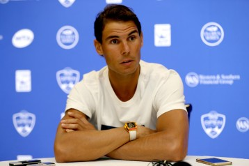 Rafael Nadal of Spain fields questions from the media during day 3 of the Western & Southern Open at the Lindner Family Tennis Center on August 14, 2017 in Mason, Ohio. (Aug. 13, 2017 - Source: Matthew Stockman/Getty Images North America)
