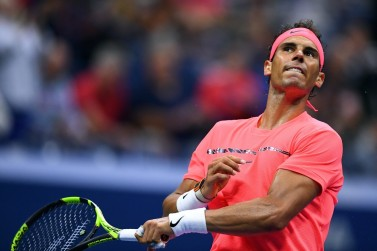 Spain's Rafael Nadal reacts after defeating Serbia's Dusan Lajovic during their 2017 US Open Men's Singles match at the USTA Billie Jean King National Tennis Center in New York on August 29, 2017. / AFP PHOTO / Jewel SAMAD (Aug. 28, 2017 - Source: AFP)