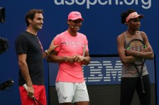 August 26, 2017 - Roger Federer, Rafael Nadal and Venus Williams during Arthur Ashe Kids' Day at the 2017 US Open.