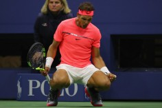 Rafael Nadal of Spain reacts to winning a set against Leonardo Mayer of Argentina during their third round Men's Singles match on Day Six during the 2017 US Open at the USTA Billie Jean King National Tennis Center on September 2, 2017 in the Queens borough of New York City. (Sept. 1, 2017 - Source: Mike Stobe/Getty Images North America)