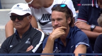 Rafael Nadal coaches Uncle Toni and Carlos Moya 2017 US Open final