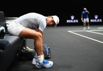 Rafael Nadal of Spain looks on during a training session ahead of the Laver Cup on September 20, 2017 in Prague, Czech Republic. The Laver Cup consists of six European players competing against their counterparts from the rest of the World. Europe will be captained by Bjorn Borg and John McEnroe will captain the Rest of the World team. The event runs from 22-24 September. (Sept. 19, 2017 - Source: Clive Brunskill/Getty Images Europe)