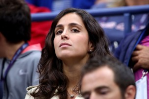 Xisca Perello watches Andrey Rublev of Russia play against Rafael Nadal of Spain in the Men's Singles Quarterfinal match on Day Ten of the 2017 US Open at the USTA Billie Jean King National Tennis Center on September 6, 2017 in the Flushing neighborhood of the Queens borough of New York City. (Sept. 5, 2017 - Source: Clive Brunskill/Getty Images North America)