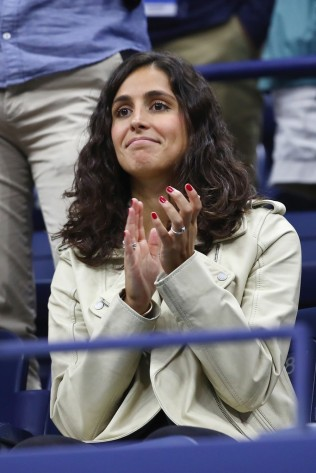 Xisca Perello celebrates Rafael Nadal of Spain defeating Andrey Rublev of Russia after their Men's Singles Quarterfinal match on Day Ten of the 2017 US Open at the USTA Billie Jean King National Tennis Center on September 6, 2017 in the Flushing neighborhood of the Queens borough of New York City. (Sept. 5, 2017 - Source: Clive Brunskill/Getty Images North America)