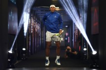 Rafael Nadal of Team Europe enters the arena ahead of the mens doubles match between John Isner and Jack Sock of Team World and Tomas Berdych and Marin Cilic of Team Europe on the final day of the Laver cup on September 24, 2017 in Prague, Czech Republic. The Laver Cup consists of six European players competing against their counterparts from the rest of the World. Europe will be captained by Bjorn Borg and John McEnroe will captain the Rest of the World team. The event runs from 22-24 September. (Sept. 23, 2017 - Source: Julian Finney/Getty Images Europe)