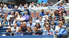 Nadal's box watches Rafael Nadal of Spain play against Kevin Anderson of South Africa during the Men's Singles finals match on Day Fourteen of the 2017 US Open at the USTA Billie Jean King National Tennis Center on September 10, 2017 in the Flushing neighborhood of the Queens borough of New York City. (Sept. 9, 2017 - Source: Clive Brunskill/Getty Images North America)