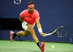 Rafael Nadal of Spain returns a shot during his third round match against Leonardo Mayer of Argentina on Day Six of the 2017 US Open at the USTA Billie Jean King National Tennis Center on September 2, 2017 in the Flushing neighborhood of the Queens borough of New York City. (Sept. 1, 2017 - Source: Abbie Parr/Getty Images North America)