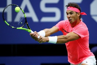 Rafael Nadal of Spain returns a shot during his third round match against Leonardo Mayer of Argentina on Day Six of the 2017 US Open at the USTA Billie Jean King National Tennis Center on September 2, 2017 in the Flushing neighborhood of the Queens borough of New York City. (Sept. 1, 2017 - Source: Clive Brunskill/Getty Images North America)