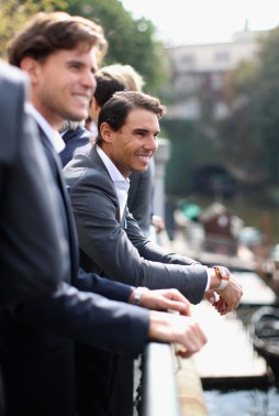 Rafael Nadal of Spain smiles during a photoshoot ahead of the Laver Cup on September 20, 2017 in Prague, Czech Republic. The Laver Cup consists of six European players competing against their counterparts from the rest of the World. Europe will be captained by Bjorn Borg and John McEnroe will captain the Rest of the World team. The event runs from 22-24 September. (Sept. 19, 2017 - Source: Julian Finney/Getty Images Europe)