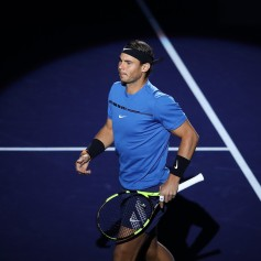 Rafael Nadal of Spain enters the tennis court during the Men's singles Semifinal mach against Marin Cilic of Coratia on day seven of 2017 ATP Shanghai Rolex Masters at Qizhong Stadium on October 14, 2017 in Shanghai, China. (Oct. 13, 2017 - Source: Lintao Zhang/Getty Images AsiaPac)