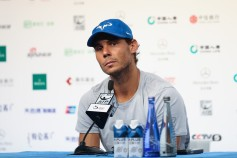 Rafael Nadal of Spain attends a press conference after winning the Men's Singles final against Nick Kyrgios of Australia on day nine of the 2017 China Open at the China National Tennis Centre on October 8, 2017 in Beijing, China. (Oct. 7, 2017 - Source: Lintao Zhang/Getty Images AsiaPac)