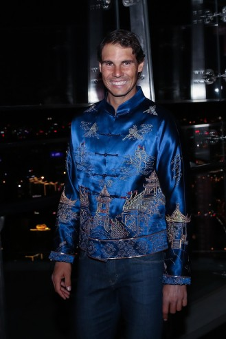 Rafael Nadal of Spain poses for a picture before the 2017 China Open Player Party on October 1, 2017 in Beijing, China. (Sept. 30, 2017 - Source: Lintao Zhang/Getty Images AsiaPac)