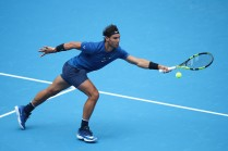 Rafael Nadal of Spain celebrates a point during the Men's singles Quarterfinals match against John Isner of the United States on day seven of 2017 China Open at the China National Tennis Centre on October 6, 2017 in Beijing, China. (Oct. 5, 2017 - Source: Lintao Zhang/Getty Images AsiaPac)
