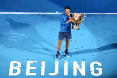 Rafael Nadal of Spain poses with his trophy after winning the Men's singles final match against Nick Kyrgios of Australia on day nine of the 2017 China Open at the China National Tennis Centre on October 8, 2017 in Beijing, China. (Oct. 7, 2017 - Source: Emmanuel Wong/Getty Images AsiaPac)