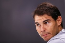 Rafael Nadal of Spain speaks to the media during Day 1 of the Rolex Paris Masters held at the AccorHotels Arena on October 30, 2017 in Paris, France. (Oct. 29, 2017 - Source: Dean Mouhtaropoulos/Getty Images Europe)